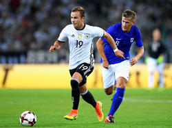 Mario Götze kam gegen Finnland 90 Minuten zum Zug