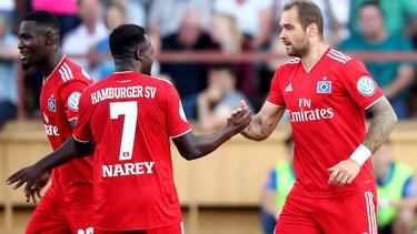 Pierre-Michel Lasogga bewahrt den HSV vor einer Blamage im DFB-Pokal