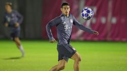 James en un entrenamiento con el Bayern. (Foto: Getty)