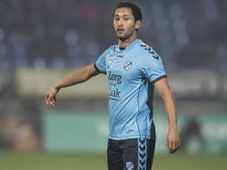 Mark van der Maarel geeft aanwijzingen tijdens het competitieduel Willem II - FC Utrecht (22-10-2016).