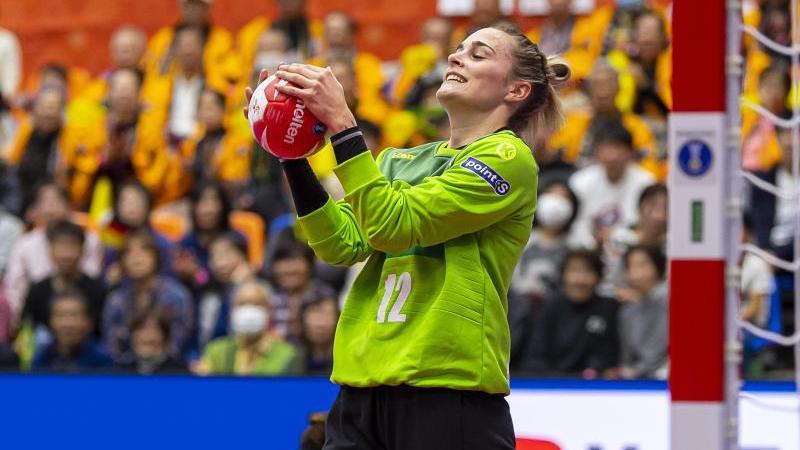 DHB-Keeperin Dinah Eckerle spielt bislang eine herausragende WM