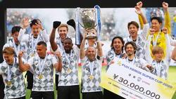 Vissel Kobe feiert den Gewinn des japanischen Supercups