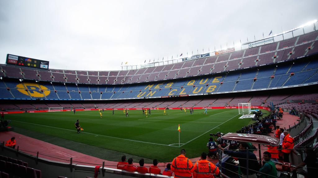 Vistas del Camp Nou de Barcelona.