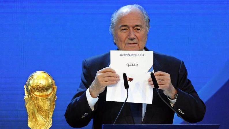 Sepp Blatter bei der WM-Vergabe an Katar