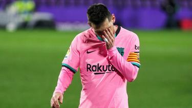 Lionel Messi sah zum ersten Mal in seiner Barca-Zeit die Rote Karte