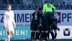Der Karlsruher SC setzte sich beim SV Sandhausen durch
