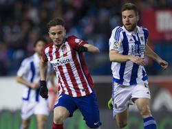 Saúl (izq.) marcó el segundo tanto del Atlético ante una floja Real Sociedad. (Foto: Getty)