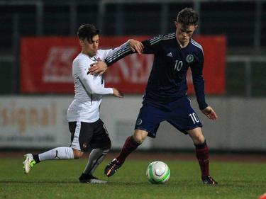 Schottland zweifacher Torschütze Liam Henderson war für die Österreicher nicht zu halten