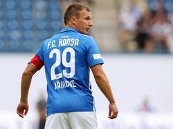 Tobias Jänicke trägt bei Hansa Rostock künftig die Kapitänsbinde