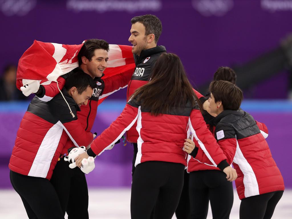 Die Kanadier bejubelten in Südkorea den Gewinn der Goldmedaille