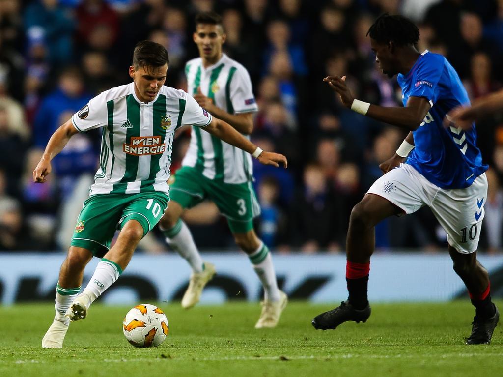 Rapid zog in Glasgow gegen die Rangers den Kürzeren.