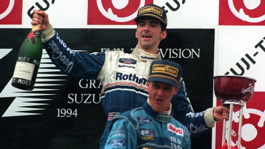 Damon Hill und Michael Schumacher lieferten sich ein heißes Duell