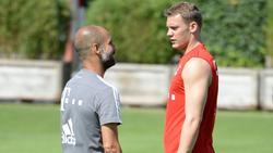 Manuel Neuer (r.) war unter Pep Guardiola absolut gesetzt