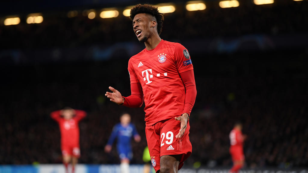 Kingsley Coman verletzte sich im Champions-League-Spiel des FC Bayern in London