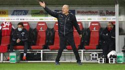Christian Streich verlor mit seiner Mannschaft gegen Leverkusen