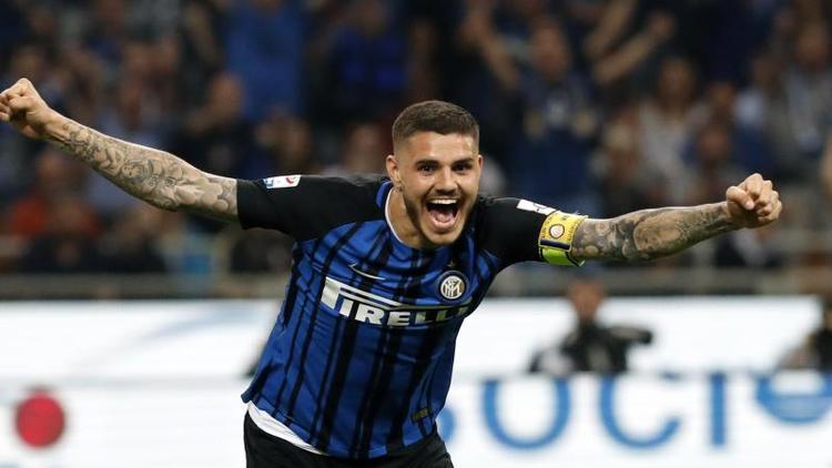 Hat bei Inter Mailand wieder das Training aufgenommen: Ex-Kapitän Mauro Icardi. Foto: Antonio Calanni/AP