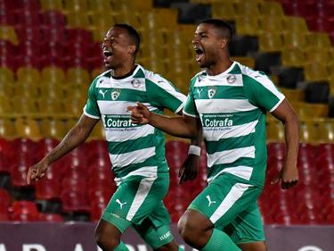 Los jugadores de La Equidad celebran tras ganar en penaltis. (Foto: Getty)