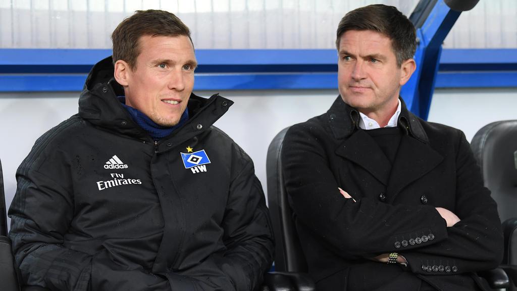 Hannes Wolf (l.) wird nach dem Saisonende kein HSV-Coach mehr sein