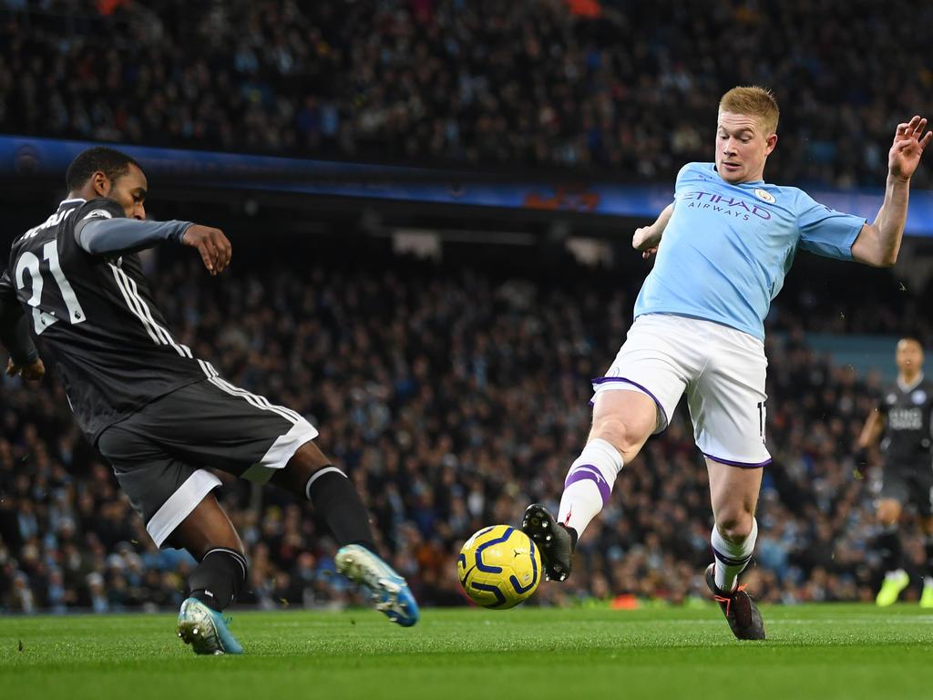Manchester City besiegt Leicester City zuhause mit 3:1