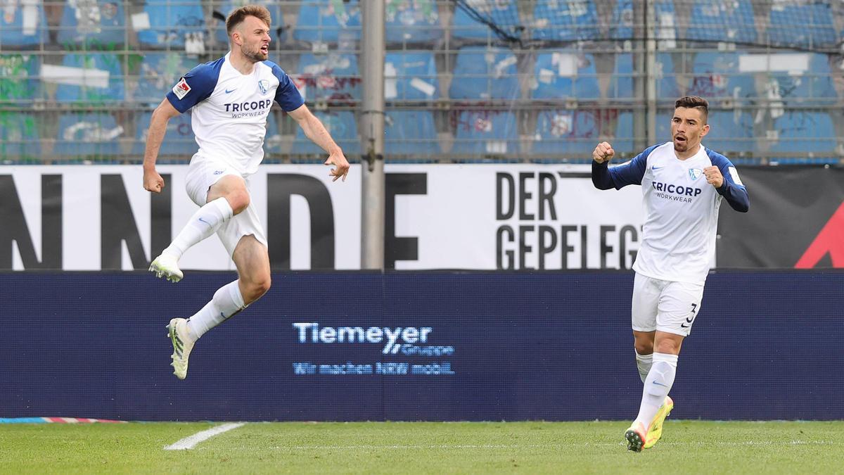 Manuel Wintzheimer (l.) erzielte das 2:0 für den VfL Bochum