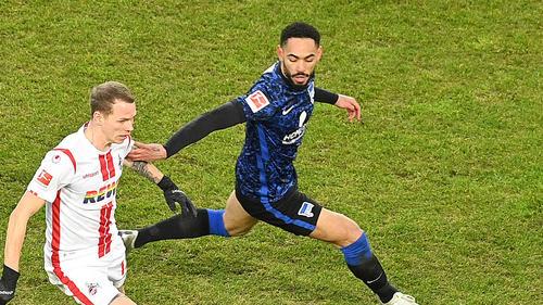 Herthas Matheus Cunha (M) im Spiel gegen den 1. FC Köln