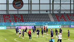 Die französischen Stars trainierten auf dem Bayern-Campus