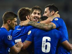 Cruzeiro celebra la mayor goleada desde hace mucho tiempo. (Foto: Getty)