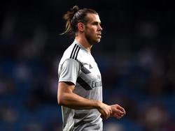 Bale en el calentamiento previo al duelo de Champions de ayer. (Foto: Getty)