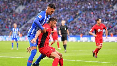Hertha BSC Berlin und der SC Freiburg schenkten sich keinen Zentimeter