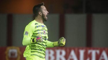 Dank der Nations League kann Torhüter Kyle Goldwin mit Gibraltar von der EM träumen