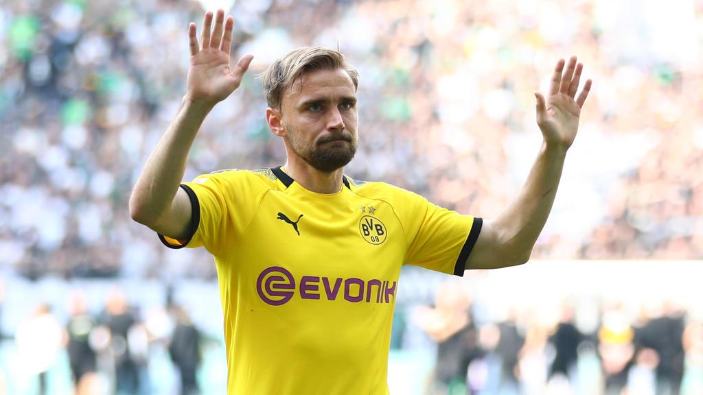 Marcel Schmelzer wurde in Gladbach von den BVB-Fans gefeiert