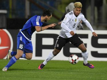 El joven Serge Gnabry debutó con un triplete con la selección alemana. (Foto: Imago)