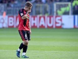 Amir Abrashi hat sich im Trainingslager des SC Freiburg bei einem Testspiel verletzt