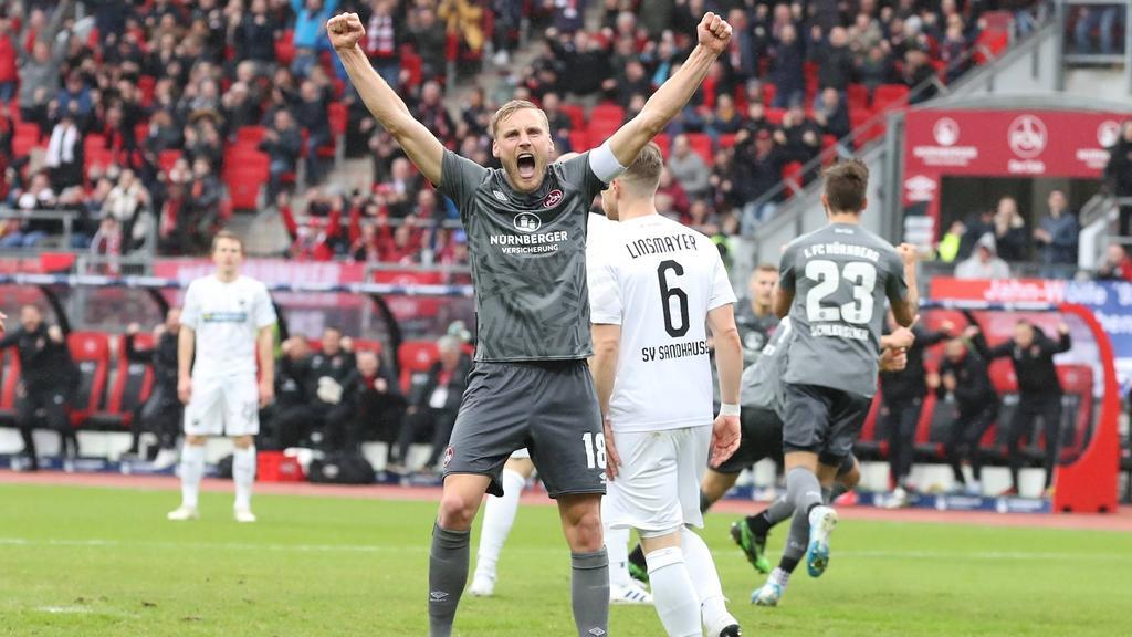 Der 1. FC Nürnberg verlässt nach dem Heimsieg die Abstiegsplätze