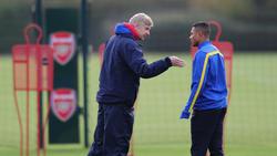 Arsène Wenger und Bayern-Star Serge Gnabry kennen sich aus gemeinsamer Zeit beim FC Arsenal