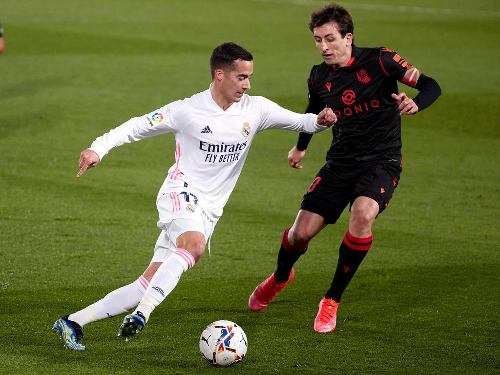 Lucas Vázquez ha vuelto a completar un gran partido en la derecha.