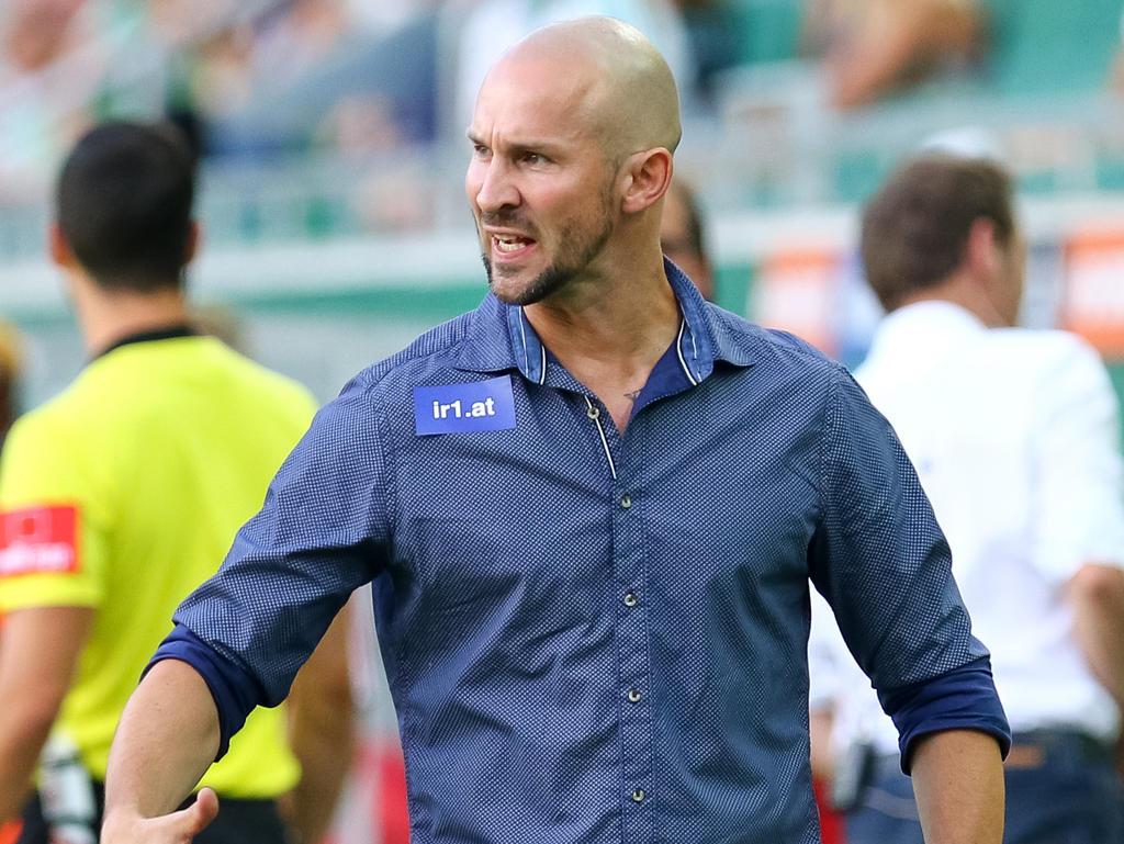 Trainer Christian Ilzer ist mit seiner Truppe gut unterwegs