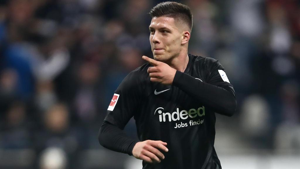 Luka Jovic hat sich bei Eintracht Frankfurt für höhere Aufgaben empfohlen