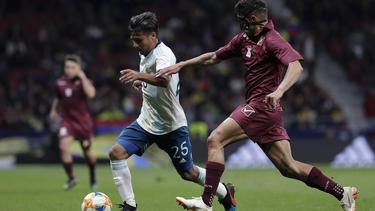 Hurtado (re.) debütierte im März für Venezuelas Nationalmannschaft