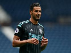 Nacer Chadli krijgt speeltijd tijdens een oefenduel van West Bromwich Albion met Delhi Dynamos. (03-09-2016)