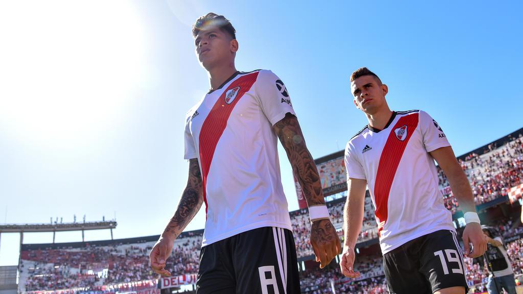 Carrascal con la camiseta del River Plate.