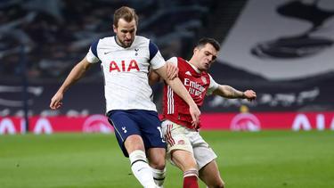 Erzielte das 2:0 für Tottenham gegen Arsenal: Harry Kane (l.)