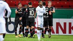 Bayer Leverkusen setzte sich gegen Eintracht Frankfurt durch