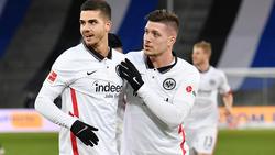 Luka Jovic (r.) kehrte im Januar zu Eintracht Frankfurt zurück