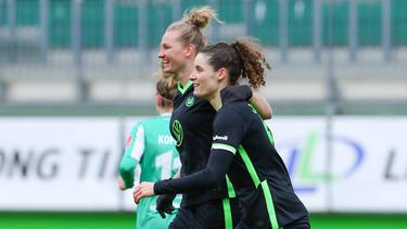 Die Wolfsburger Frauen stehen im Halbfinale des Pokals