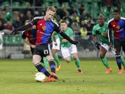 Marc Janko trifft gegen AS Saint-Étienne vom Elfmeterpunkt