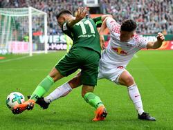 Diego Demme (r.) hatte gegen den SV Werder viel zu tun