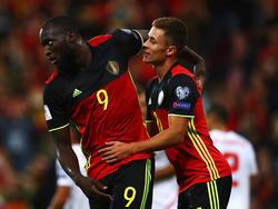 Romelu Lukaku und Eden Hazard trafen