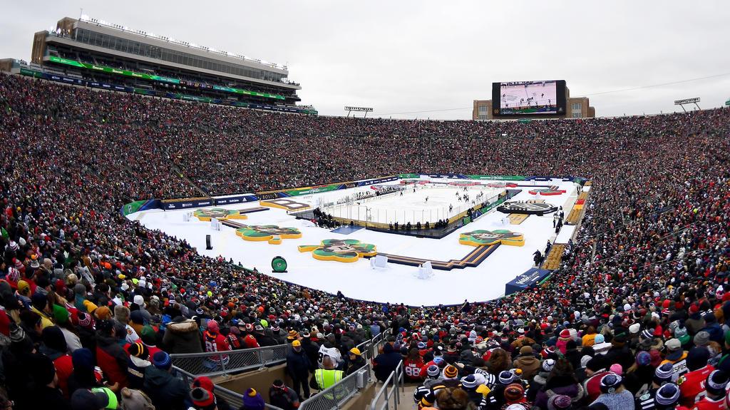 Das Winter Classic 2019 wurde vor 76.126 Zuschauern in Indiana ausgetragen
