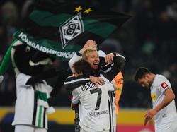 Fohlen-Jubel nach dem Sieg gegen Mainz